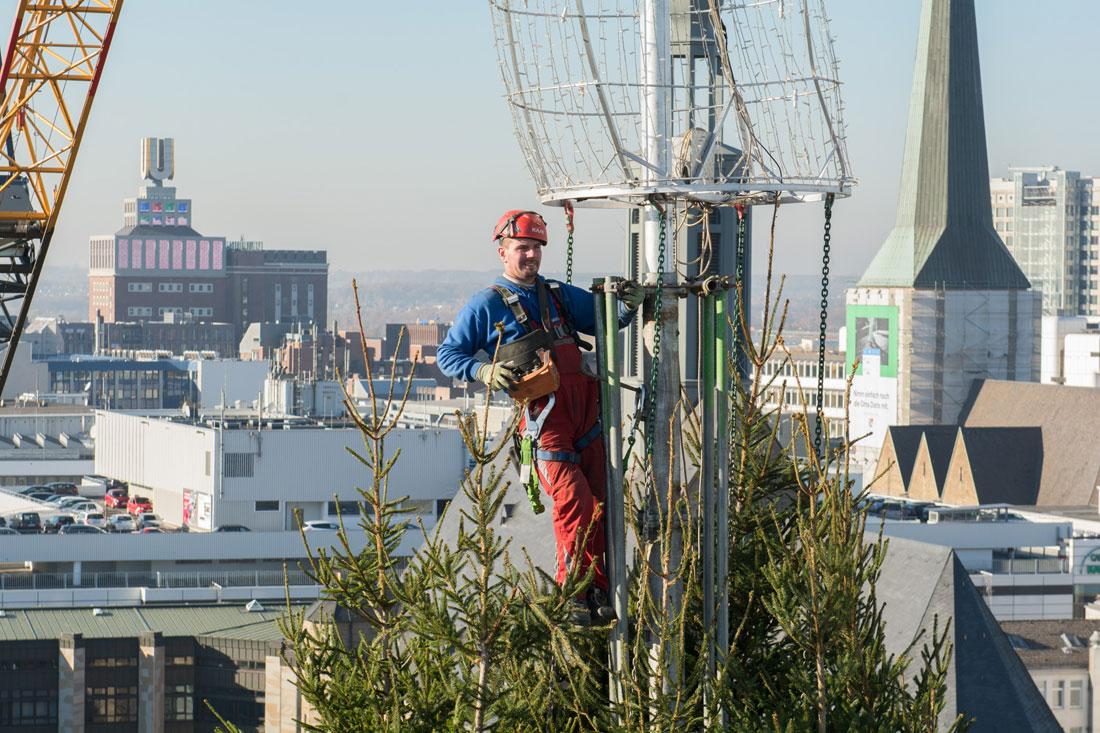 Dortmund Weihnachtsbaum.Dortmunder Weihnachtsbaum 2018 Feiert Richtfest 2018 Fotos