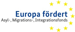 Logo: Europa fördert - Asyl-, Migrations- und Integrationsfonds
