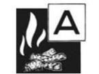 Piktogramm der Brandklasse A