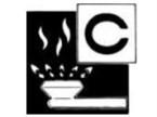 Piktogramm der Brandklasse C
