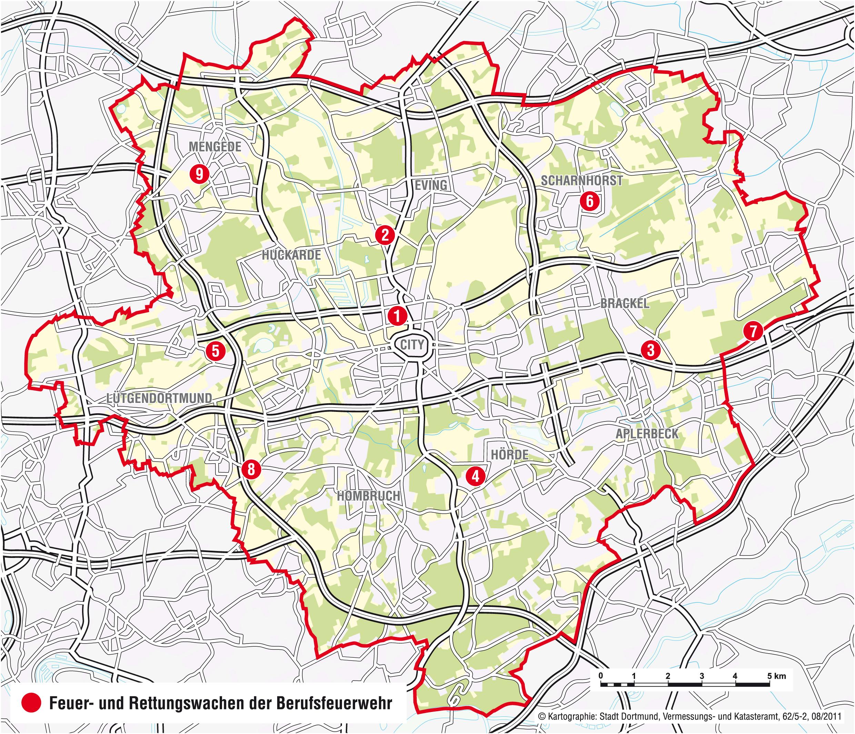 Standorte Feuerwehr Sicherheit Recht Leben In Dortmund